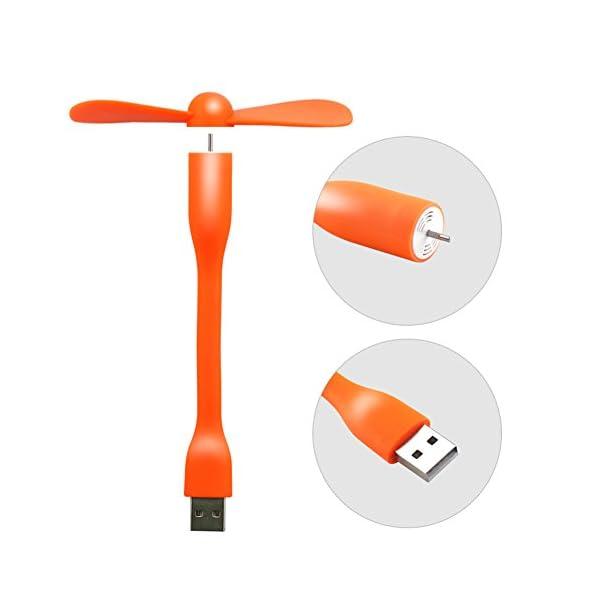 YXYP Impression 360 Grados de Rotaci/ón Mini Silencioso Ventilador de Ajustable y Port/átil para Interfaz USB Oficina//Cama//Dormitorio//Escritorio A