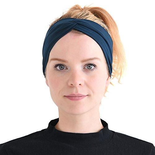 anisch elastisch Stirnband Headband Haar Band Zubehör Sport Marine ()