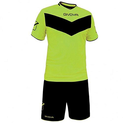 Givova Sieg, Kit Fußball Gelb neon / schwarz