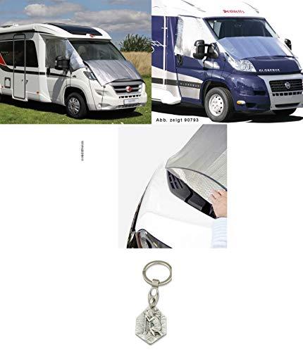 Zisa-Kombi Thermomatte außen Scheibenabdeckung für Ford Transit ab Bj. 2007 (93298890794) mit Anhänger Hlg. Christophorus
