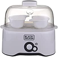 Black+Decker 7 Piece Egg Cooker, White - EG200-B5