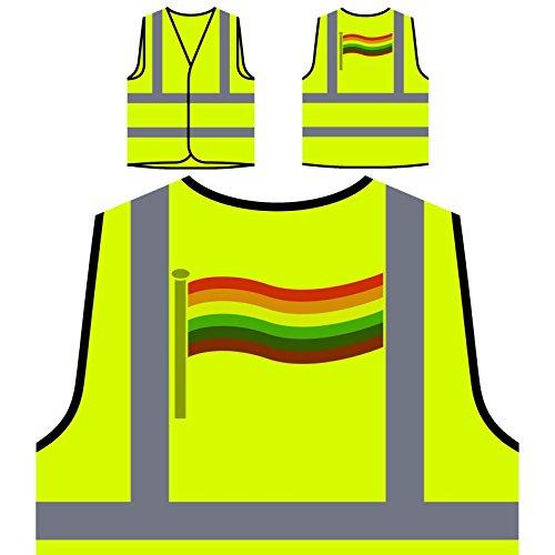 Lgbt Flag Personalisierte High Visibility Gelbe Sicherheitsjacke Weste t150v