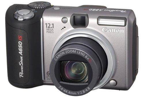 Canon Powershot A650 IS Digitalkamera (12,1 Megapixel, 6x optischer Zoom, dreh-und schwenkbares 2,5-Zoll Display) Canon Powershot 8 Mp