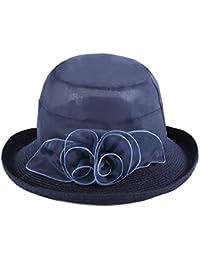 Cappello da Sole da Donna Cappello - Cappello da Sole Estivo da Donna  Cappello da Sole Pieghevole da Spiaggia… 0aec267f8632