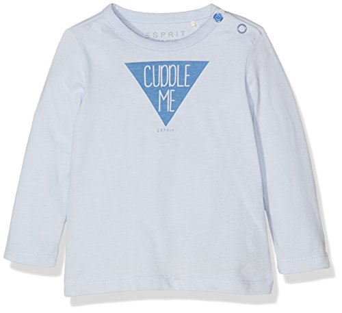 Esprit Kids Unisex Baby T-Shirt, Blau (Pastel Blue 435), One size (Herstellergröße: 56)
