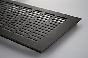 MS Beschläge Grille d'aération en aluminium Marron anodisé 150x400 mm