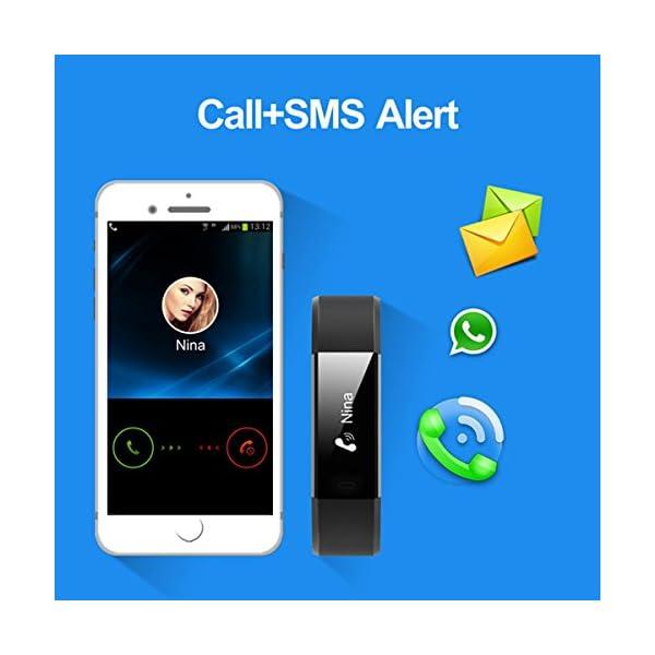 Nakosite RAY2433 Reloj inteligente Mujer Hombre SmartWatch pulsera Actividad relojes Inteligentes deportivo podometro,Contador de Pasos,Calorías,Sueño,Distancia.Android 5.0 iOS 8.0 y posteriores 2