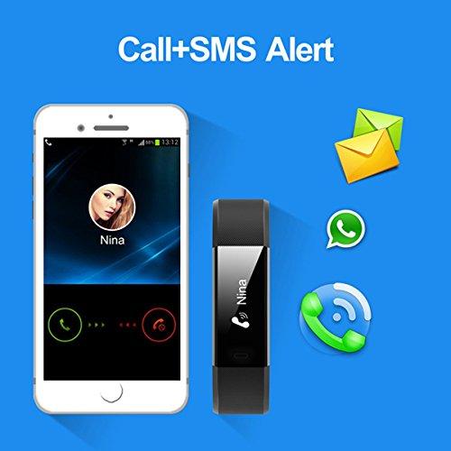 NAKOSITE-RAY2434-Pedometro-Contapassi-Polso-e-Calorie-Donna-Uomo-Bambino-Fitness-Watch-Activity-Tracker-Conta-Calorie-Distanza-Monitor-Sonno-Orologio-Sport-Si-connette-SOLO-ad-iPhone-o-cellulare-Andro