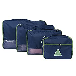DINGANG Travel Pouch, Baggage Sorting Packing Bags, Underwear Storage Bag,(Pack of 4)