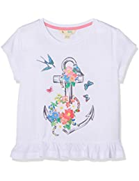 Yumi Anchor Floral Tee (White), T-Shirt Fille