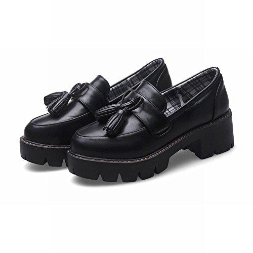 Misssasa Femmes Casual Chaussures À Talons Bas Et Black Road
