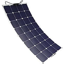 Panneau Solaire, ALLPOWERS 100W 18V 12V Chargeur Solaire Module Solaire avec MC4 pour RV, Bateau, Cabine, Tente, Voiture, Caravane, Batterie Extérieur