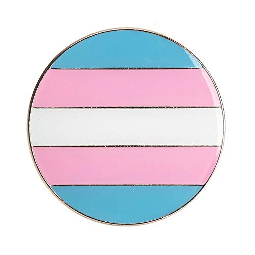 Patch Nation Trans Transexual Gay LGBT Flagge Metall Button Badge Pin Pins Anstecker Brosche -