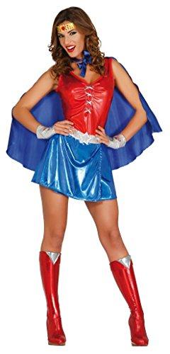 Fiestas guirca costume eroina power woman donna