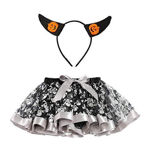 Jahre Elf Kostüm Alt - Tomatoa Kind Tutu Prinzessin Kleid mit Stirnband Festlich 2 stücke Kleinkind Set Halloween Hose Cosplay Kinder Baby Kostüm Babykostüm Geschenk Rock (2-11 Jahre alt)