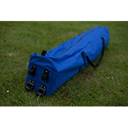 Heavy Duty 260g /sqm PVC coated fully waterproof polyester Carry bag WITH WHEELS for 3x3m pop up gazebo, Choice of 4 Colours (Blue With Wheels)