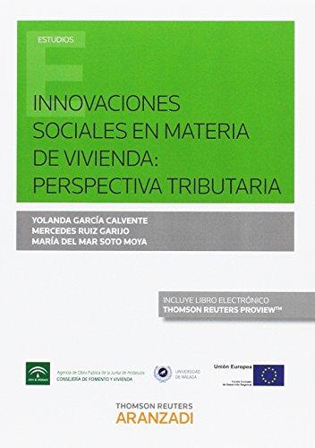 Innovaciones sociales en materia de vivienda: perspectiva tributaria (Monografía) por Aa.Vv.