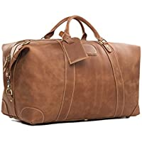 ROCKCOW, Sac de voyage Homme Marron Vintage Brown grand