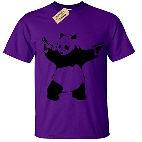 Kids Boys Girls Banksy Panda T-Shirt Urban Graffiti Cool Fashion Tee Top(9 b3eb6e44bc30