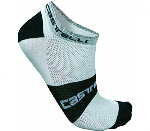 Socken CASTELLI LOWBOY Weiß/Schwarz Größe L/XL