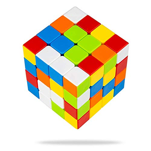 Buself Zauberwürfel 4x4 Original Speed Cube - Stickerloser Würfel mit optimierten Dreheigenschaften -