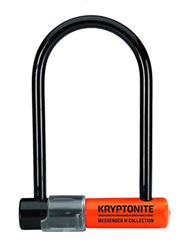 Kryptonite Kryptonite - Messenger Mini - Mini U-Lock Color Skin - Verschluss 9, 5x16, 5cm, schwarz/ orange MESSENGER MINI, schwarz/ orange, Universal, 001638_KRY