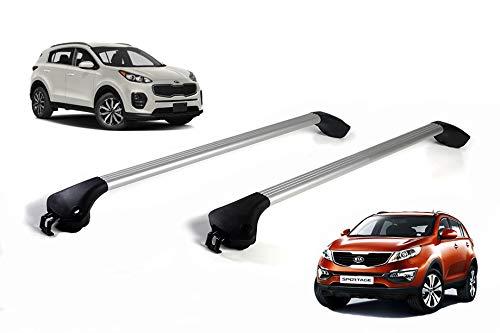 autoSHOP Barre PORTATUTTO per Auto Portapacchi RELING Integrato (Alluminio) 2013 -2018 100kg