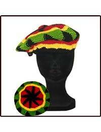 Bonnet Beret en Laine Style Jamaique Rasta Marley 24cm Neuf