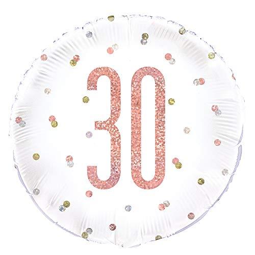 Unique Party 84902 - Globo de papel de aluminio, color oro rosa