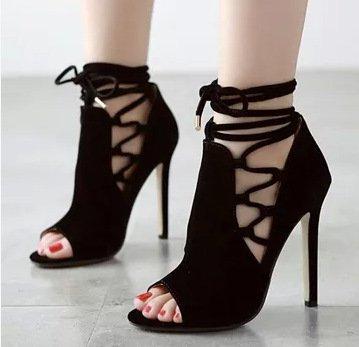 Die neue Frau Schuhe mit hohen Absätzen, Frau Sandalen, Frau Fischkopf Sandalen Schuhe hohl 36