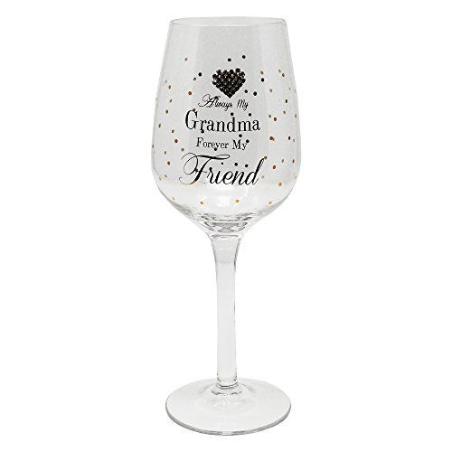 Immer My Grandma Forever My friend Geschenkverpackung Wein Glas von MAD Dots