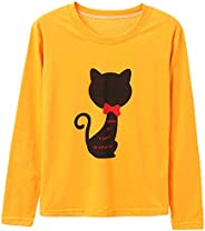 Cool Women Round Neck T Shirt - Long Sleeve Sports Top T-Shirt Causal Blouses Tops
