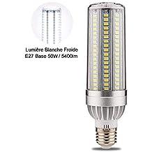 Wanfei Bombilla LED E27, 50W maíz bombilla 380W equivalente incandescente, 5400lm 6000K maíz Bombilla