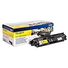 Brother TN-321Y Toner Cartridge, Standard Yield, Yellow, Brother Genuine Supplies
