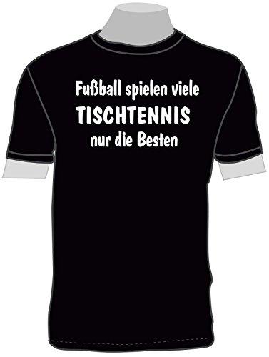 ShirtShop-Saar Fußball Spielen viele, Tischtennis T-Shirt -