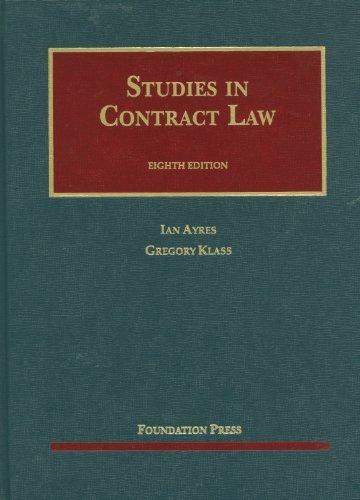 Studies in Contract Law (University Casebook Series) by Ian Ayres (2012-06-30)