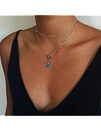 e72126f0f59c fxmimior bohemio largo collar con colgante de turquesa Sexy Rock hecha a mano  Vintage collar mujeres accesorios · EUR 7
