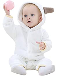 Covermason Bebé Niñas y Niños Lindo Oso Orejas Encapuchado Franela Abrigos Otoño Invierno Espesor Chaqueta para 0-24M