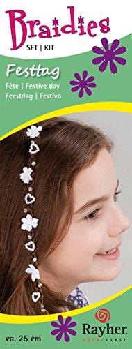 Parure pour les cheveux - Fête - Env. 25 cm - 42 pièces - Braidies