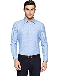 Amazon Brand - Symbol Men's Printed Regular Fit Formal Shirt