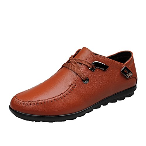 <span class='b_prefix'></span> Spades & Clubs gents Genuine Leather Fashion laid-back Unique Personalized Trendy 2 Eyelet Loafer Lace Flat shoes and boots