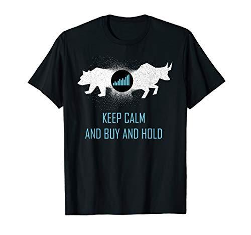 Bulle Bär Aktien Buy Hold T-Shirt Geschenk Idee Investor
