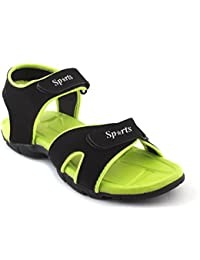Fucasso Men's Synthetic Black Green Sandals