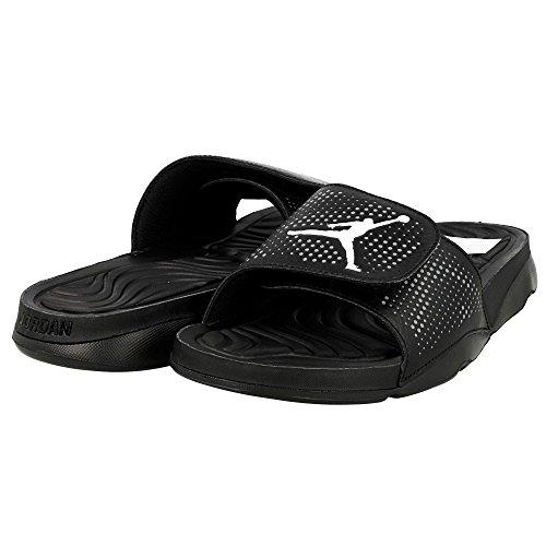 Nike Herren Jordan Hydro 5 Basketballschuhe, Schwarz / Weiß / Grau (Schwarz / Weiß-Cool Grey), 44 EU -