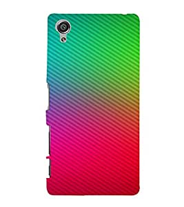 PrintVisa Colorful Cubical Pattern 3D Hard Polycarbonate Designer Back Case Cover for Sony Xperia X