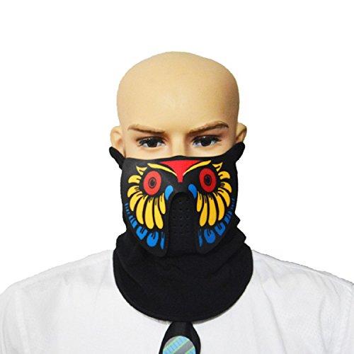 Inception Pro Infinite Maske - Gesicht mit Stimme erleuchtend - Sport - Verkleidung - Cosplay (Modell 3)