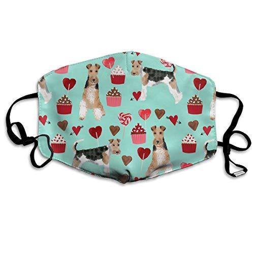 entinstag Cupcakes Love Hearts Hund Rasse Mint Anti-Staub Maske Anti-Verschmutzung waschbar Wiederverwendbar Mundmasken ()