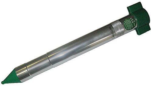 Blanko Wühlmausscheck Sonic Molechaser mit Zufallsgenerator, Silber, 8 x 8 x 41,5 cm