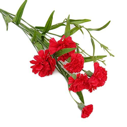 FEIDAjdzf Künstliche Pusteblume Kunstblume DIY Hochzeit Bouquet Party Home Dekoration – Dunkelrosa
