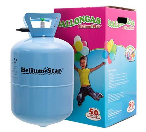 iumStar Einwegflasche für bis zu 50 Luftballons 25cm Ø o. 27 Folienballons 45cm Ø Geburtstag Party Hochzeit ()